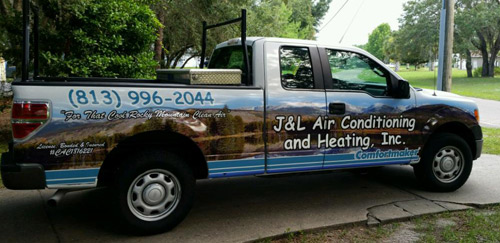 Land O Lakes Air Conditioning and Heating Truck